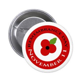 Día de la conmemoración - insignia pin