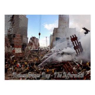 Día de la conmemoración - las consecuencias tarjeta postal