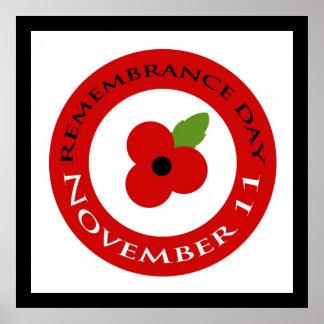 Día de la conmemoración - poster