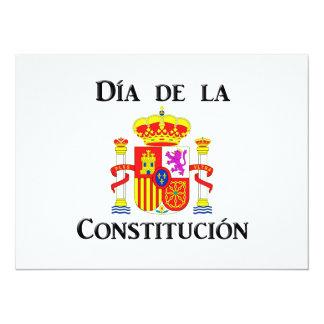 Día de la Constitución - Spain 5.5x7.5 Paper Invitation Card