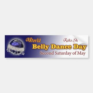 Día de la danza de Belly del mundo-- ¡En segundo l Pegatina De Parachoque