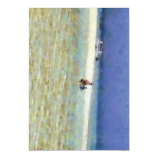 """Día de la diversión en la playa invitación 3.5"""" x 5"""""""