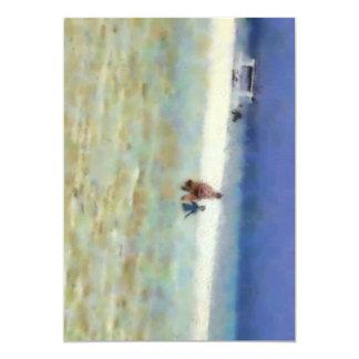 """Día de la diversión en la playa invitación 5"""" x 7"""""""