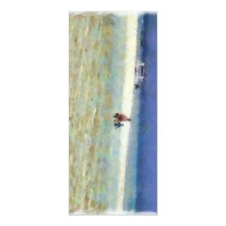 """Día de la diversión en la playa invitación 4"""" x 9.25"""""""