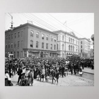 Día de la emancipación, Richmond, Va. c1905 Póster