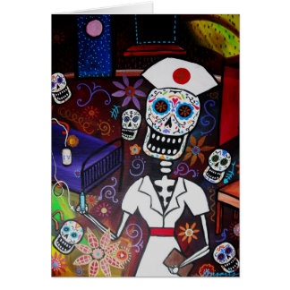 Día de la enfermera de los muertos felicitacion