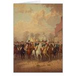 Día de la evacuación y entrada 1783 de Washingtons Tarjeta