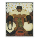 Día de la flor, Diego Rivera Poster