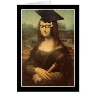 Día de la graduación de Mona Lisa Tarjeta De Felicitación