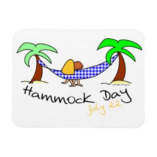 Día de la hamaca imán rectangular
