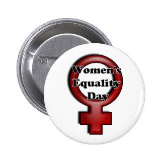 Día de la igualdad de las mujeres pin redondo de 2 pulgadas