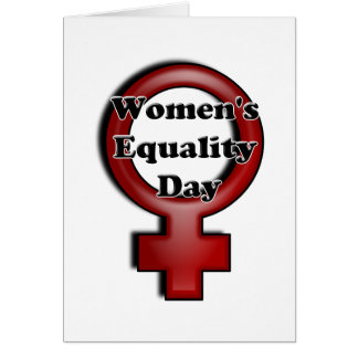 Día de la igualdad de las mujeres tarjeta de felicitación