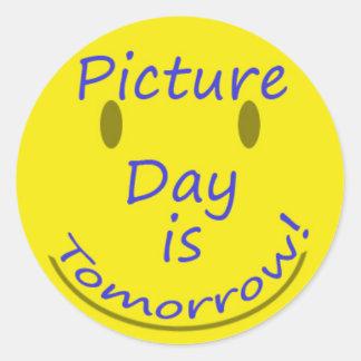 Día de la imagen pegatina redonda