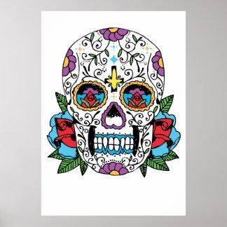 Día de la impresión mexicana muerta del arte del c póster