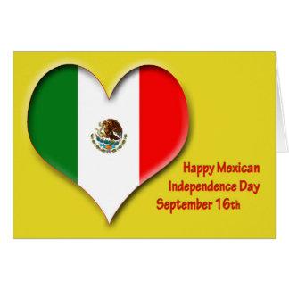 Día de la Independencia 16 de septiembre mexicano Tarjeta De Felicitación