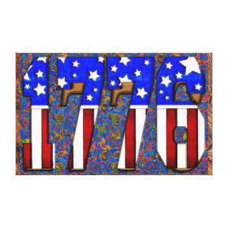 Día de la Independencia 1776 de los E.E.U.U. Impresión En Lona Estirada
