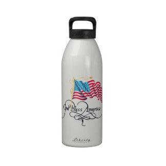 Día de la Independencia 4 de julio Botella De Beber