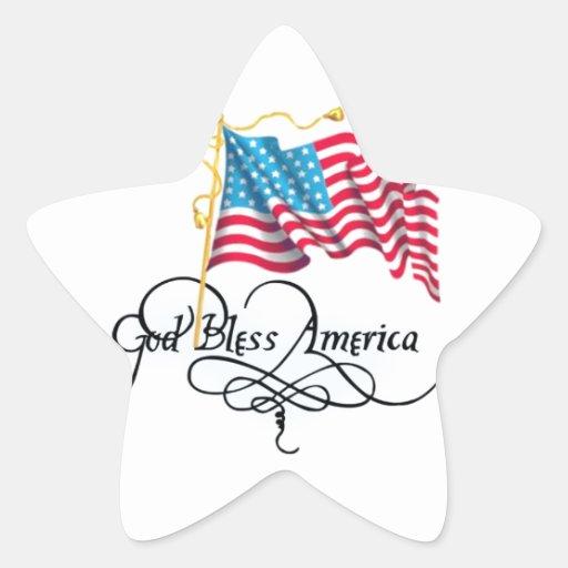 Día de la Independencia 4 de julio Pegatina Forma De Estrella