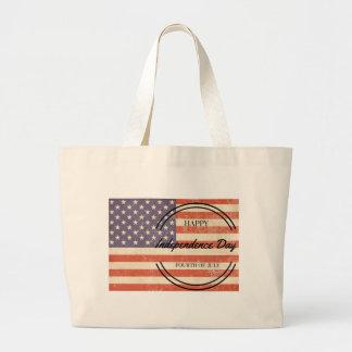 ¡Día de la Independencia - 4to (cuarto) julio Bolsa De Tela Grande