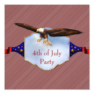 Día de la Independencia 4to de Bbq del fiesta de Invitación Personalizada