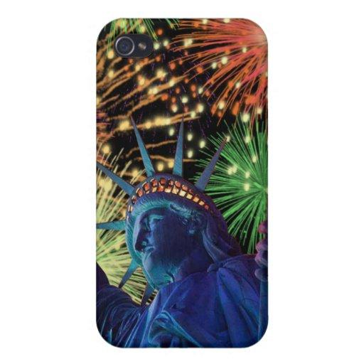 Día de la Independencia 4to de caso de julio Iphon iPhone 4 Cárcasas
