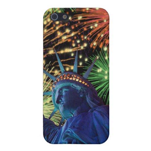 Día de la Independencia 4to de caso de julio Iphon iPhone 5 Protectores