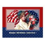 Día de la Independencia, 4to de julio Tarjeta Postal