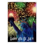 Día de la Independencia 4to de tarjeta de julio