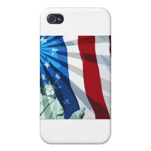 Día de la Independencia 4to iPhone 4 Cárcasas