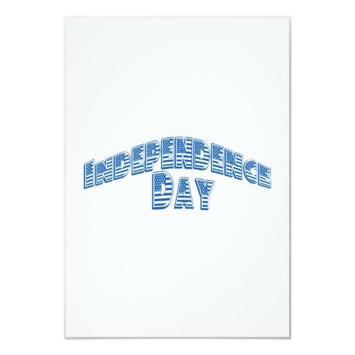 """Día de la Independencia azul Invitación 3.5"""" X 5"""""""