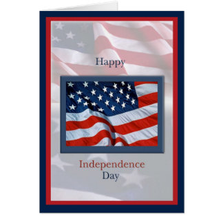Día de la Independencia con la tarjeta de las band