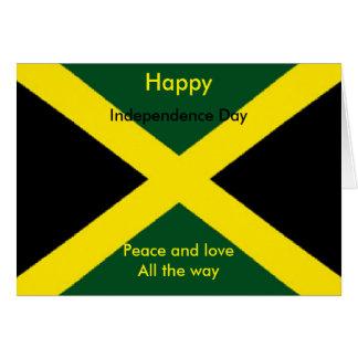 Día de la Independencia de Jamaica Tarjeta De Felicitación
