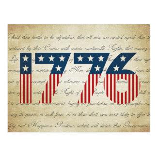 Día de la Independencia de las barras y estrellas Postal