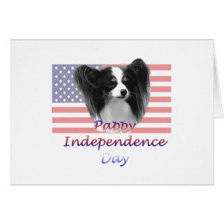 Día de la Independencia de Pappy Tarjeta Pequeña