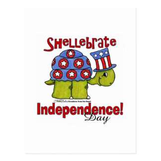 ¡Día de la Independencia de Shellebrate de la Tarjetas Postales