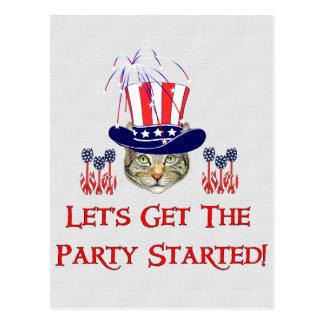 Día de la Independencia del gatito Postales