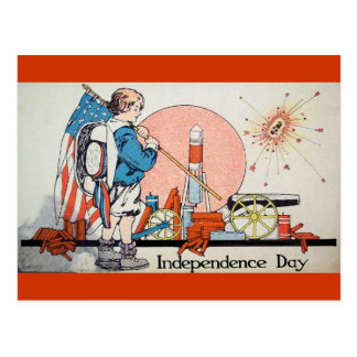 Día de la Independencia del vintage/el 4 de julio Postal