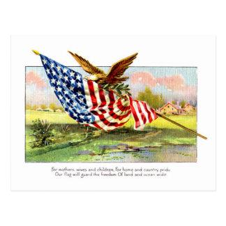 Día de la Independencia del vintage Postal