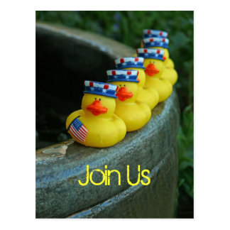 Día de la Independencia Ducky Tarjetas Postales