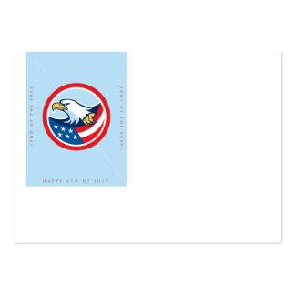 Día de la Independencia Eagle calvo Tarjetas De Visita Grandes