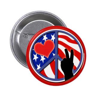 Día de la Independencia el 4 de julio Pin Redondo De 2 Pulgadas