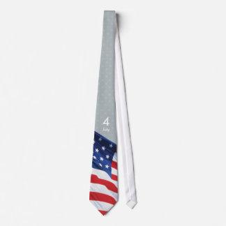 Día de la Independencia, el 4 de julio (USA_0108a) Corbata Personalizada