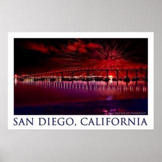 Día de la Independencia en San Diego, California Póster