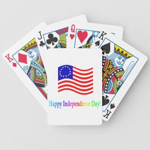 Día de la Independencia feliz Cartas De Juego