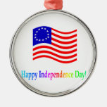 Día de la Independencia feliz Ornamento Para Reyes Magos