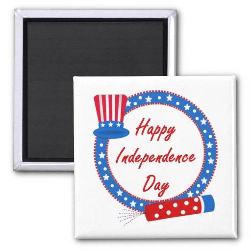 Día de la Independencia feliz Imán De Frigorífico