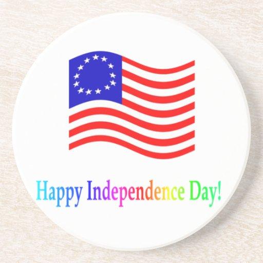 Día de la Independencia feliz Posavasos Diseño