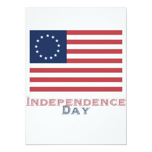 """Día de la Independencia Invitación 5.5"""" X 7.5"""""""