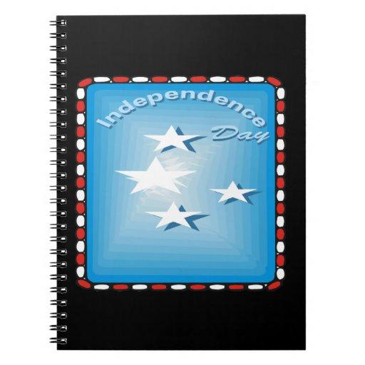 Día de la Independencia Libros De Apuntes Con Espiral