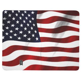 Día de la Independencia patriótico de la bandera Cuadernos Grapados
